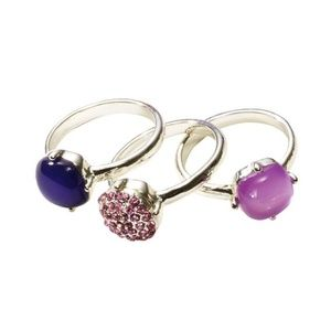 Avon Purple Stackable Rings